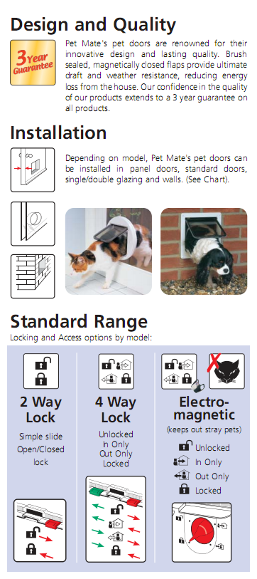 cat and dog flap information, design and quality
